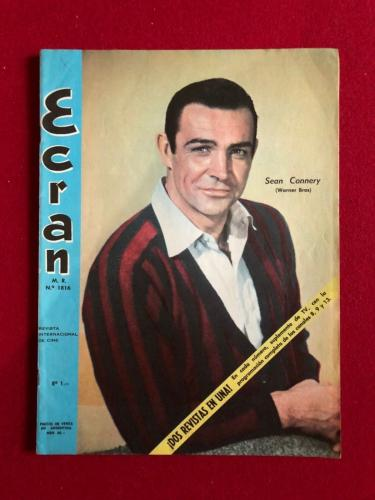 "1965, Sean Connery (James Bond) , ""ECRAN"" Magazine (No Label) Scarce"