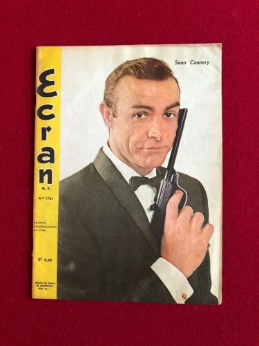 "1965, Sean Connery (James Bond), ""Ecran"" Magazine (No Label) Scarce"