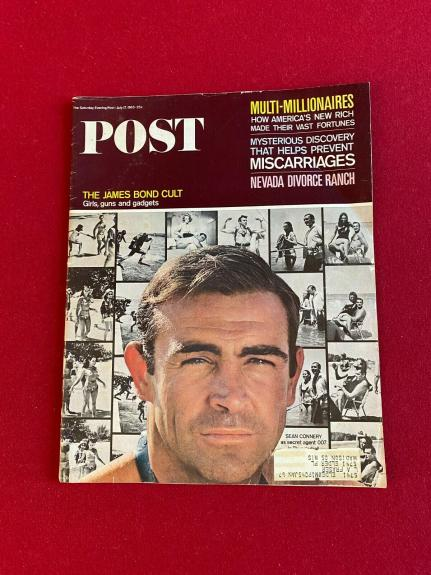 "1965, Sean Connery (James Bond), ""POST"" Magazine (Scarce / Vintage)"