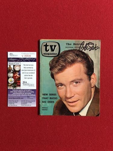 "1965, William Shatner (Star Trek), ""Autographed"" (JSA) TV Magazine (Scarce)"