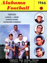 1966 Alabama Crimson Tide Bryant vs Shug 22x30 Canvas Historic Football Poster