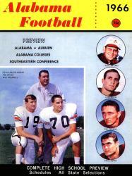 1966 Alabama Crimson Tide Bryant vs Shug 22x30 Canvas Historic Football Poster
