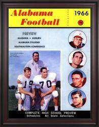 1966 Alabama Crimson Tide Bryant vs Shug 36x48 Framed Canvas Historic Football Poster