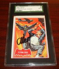 1966 Batman #31a Batman Flying Foes Penguin Adam West Signed Jsa Sgc Autograph