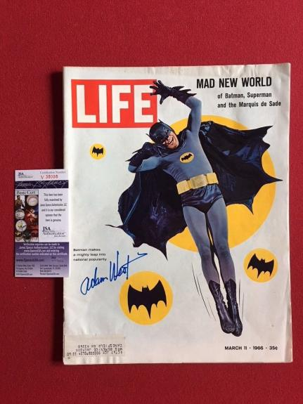 "1966, Batman (Adam West) (Deceased),""Autographed"" (JSA) ""LIFE"" Magazine (Scarce)"