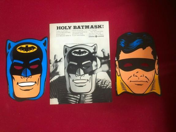 "1966, BATMAN, ""General Electric"" Duel Sided Mask & Original Ad (Scarce / Vintage"