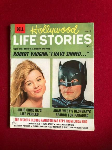 "1966, BATMAN, ""HOLLYWOOD LIFE STORIES"" Magazine (No Label) Vintage / Scarce"