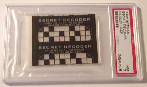 1966 Batman Riddler Back Secret Decoder Card PSA 7 NM