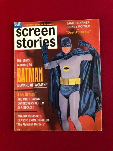 "1966, BATMAN, ""SCREEN STORIES"" Magazine (No Label) Scarce (Adam West)"