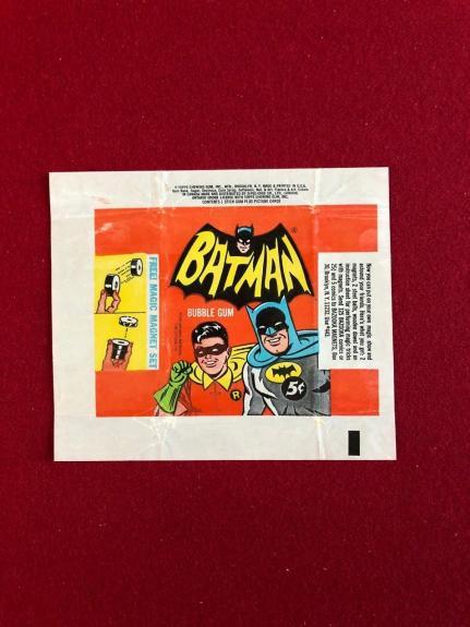 "1966, BATMAN, ""Topps Trading Card Wrapper""  (Scarce) -  (Adam West)"