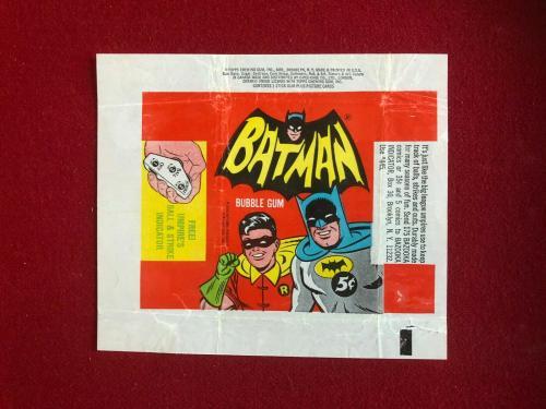 "1966, BATMAN, ""TOPPS"" Trading Card Wrapper (Scarce / Vintage)"