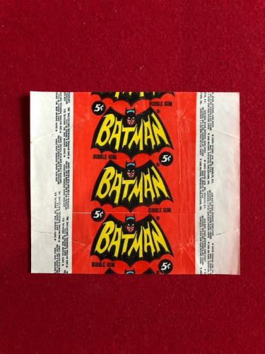 "1966, BATMAN, ""Topps"" Trading Card Wrapper (Scarce)  Zap!, Pow!"