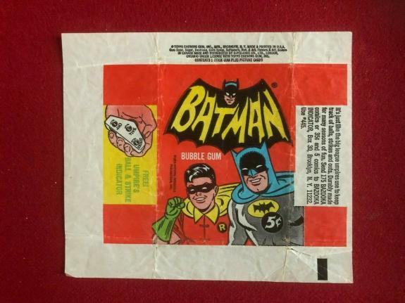 "1966, BATMAN, ""TOPPS"" Trading Card Wrapper (Vintage / Scarce)"