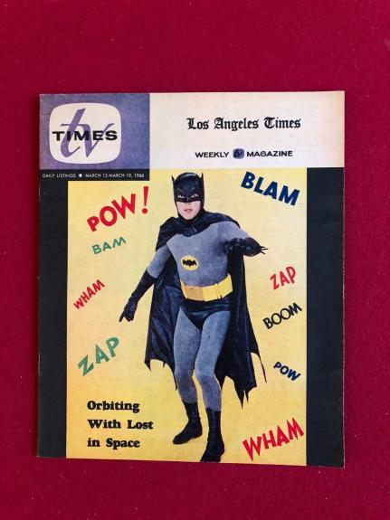 """1966, BATMAN, """"TV TIMES"""" Guide (RARE) (High Grade) ZAP!! POW!!"""