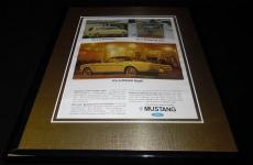 1966 Ford Mustang It's a Dream Boat Framed 11x14 ORIGINAL Vintage Advertisement