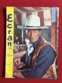 """1966, John Wayne, """"Ecran"""" Magazine (Scarce)"""