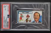1966 Lyons Maid Famous People Walt Disney #42 Ice Cream Card PSA 6