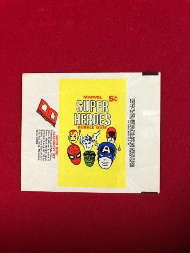1966, MARVEL SUPER HEROES, Trading Card Wrapper (Scarce / Vintage)