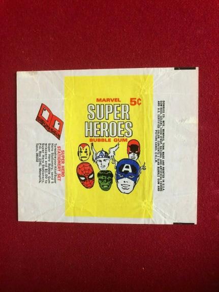1966, MARVEL SUPER HEROES, Trading Card Wrapper (Scarce / Vintage)