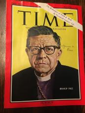 1966 Signed Time Magazine Cover Bishop James Pike  Jsa Authenticated D.1969