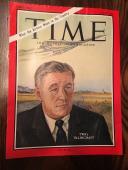 1966 Signed Time Magazine Cover Twa's Charles Tillinghast  Jsa Authenticated