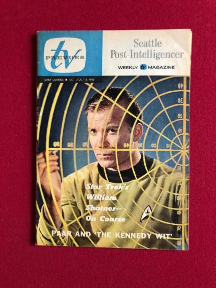 "1966, Star Trek (Capt. Kirk), ""TV Channels"" Guide (Scarce)  William Shatner"