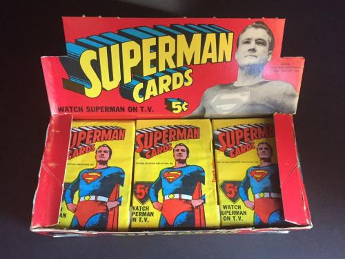 """1966 Superman, """"Un-Opened"""" Box of (24) Packs"""