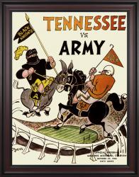 1966 Tennessee Volunteers vs Army Black Knights 36x48 Framed Canvas Historic Football Poster