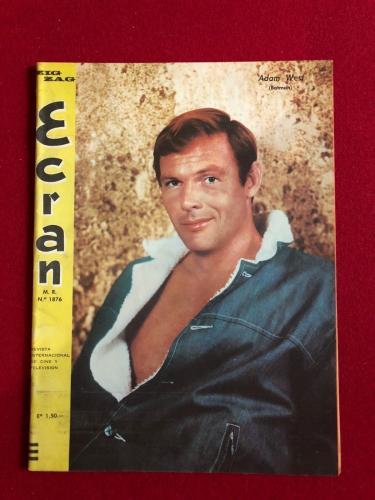"1967, BATMAN (Adam West), ""ECRAN"" Magazine (No Label) Scarce"