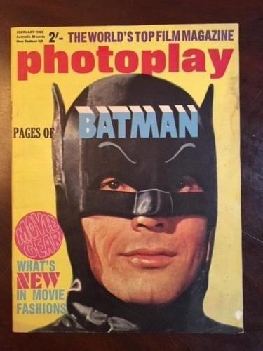 "1967, BATMAN, ""Photoplay"" Magazine (No Label) Scarce"
