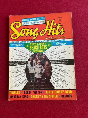 """1967, Beach Boys, """"Song Hits"""" Magazine (No Label) Scarce / Vintage /  Mike Love"""
