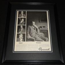 1967 Frank Sinatra Garrard Lab 80 Framed ORIGINAL Vintage Advertisement