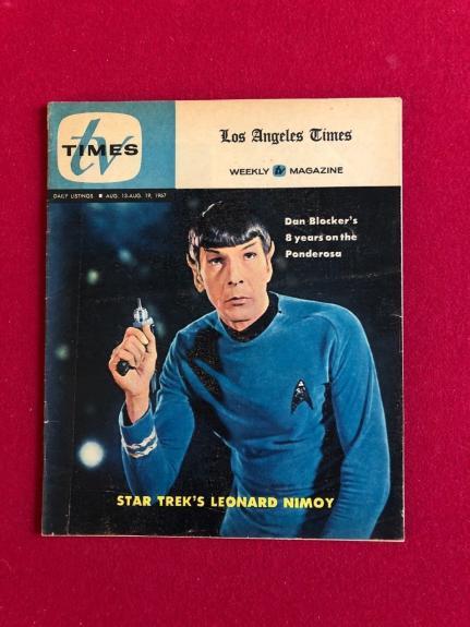 """1967, Star Trek (Spock), """"TV TIMES"""" Guide (Scarce)  Lenard Nimoy"""