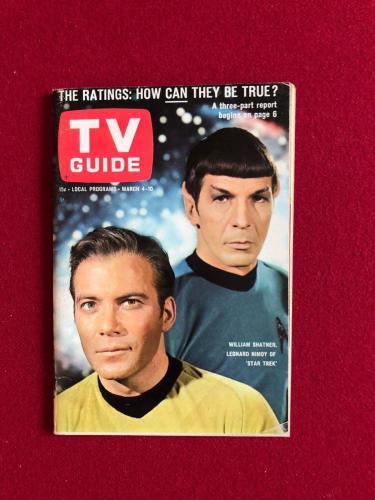 "1967, Star Trek, ""TV Guide"" (1st Cover) No Label (Scarce)"