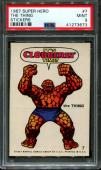 1967 Super Hero Stickers #7 The Thing Pop 3 Psa 9 N2599586-673