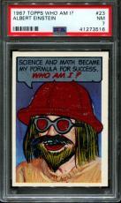 1967 Topps Who Am I? #23 Albert Einstein Psa 7 N2599960-516