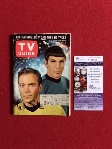 "1967, William Shatner (Star Trek), ""Autographed"" (JSA) TV Guide (Scarce)"