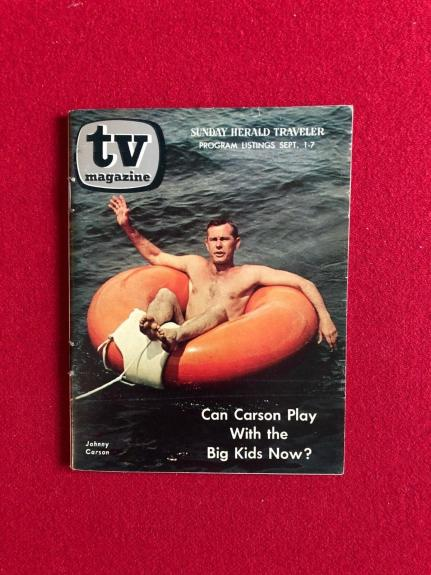 "1968, Johnny Carson, ""TV Magazine"" (No Label) Scarce"