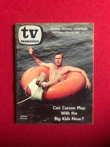 "1968, Johnny Carson, ""TV Magazine"" (Scarce)"