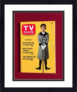 """1968, Lucille Ball """"TV Guide""""  (No Label) Scarce  (I Love Lucy)"""