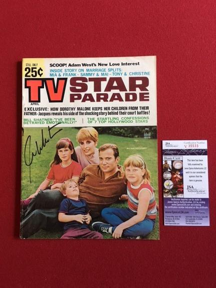 "1968, William Shatner ""Autographed"" (JSA) ""TV Star Parade"" Magazine (No Label)"