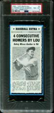 1969-70 Bazooka Hand Cut #5 Lou Gehrig Yankees Hof Pop 1 Psa 8 B2563742-489