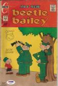 1969 Beetle Bailey Signed Mort Walker W/ Sketch Comic Book #92 PSA/DNA COA