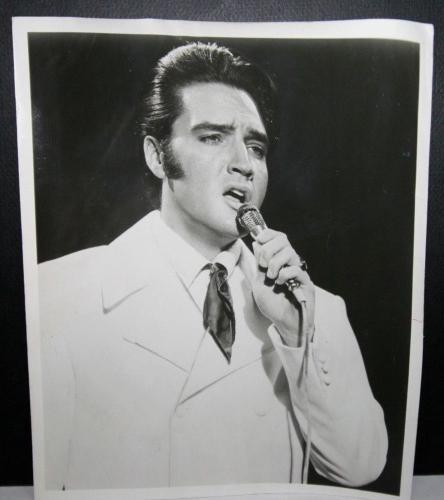 "1969 Elvis Presley, The King of Rock & Roll"" Original Type 1 Photo, 8"" x 10"