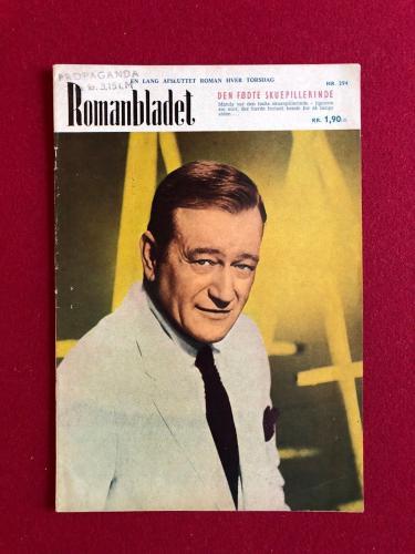 "1969, John Wayne, ""Romanbladet"" Magazine (Scarce)"