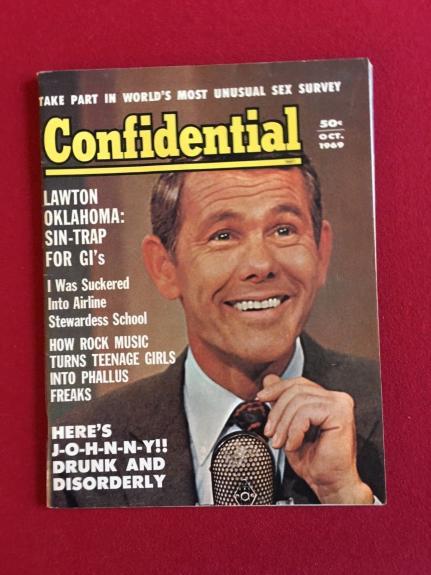 """1969, Johnny Carson, """"Confidential"""" Magazine (No Label) Scarce"""