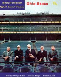 1969 Michigan Wolverines vs Ohio State Buckeyes 22x30 Canvas Historic Football Poster