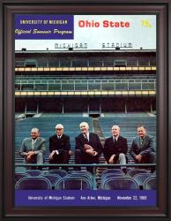 1969 Michigan Wolverines vs Ohio State Buckeyes 36x48 Framed Canvas Historic Football Poster