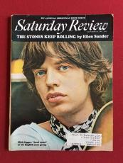 "1969, Mick Jagger (Rolling Stones), ""Saturday Review"" Magazine (Scarce)"