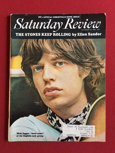 """1969, Mick Jagger (Rolling Stones), """"Saturday Review"""" Magazine (Scarce)"""